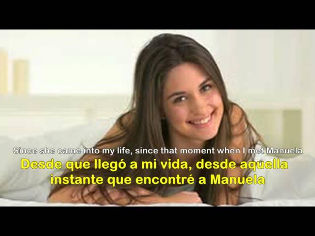 Manuela ( 1974 ) - JULIO IGLESIAS - Lyrics + English Subtitles