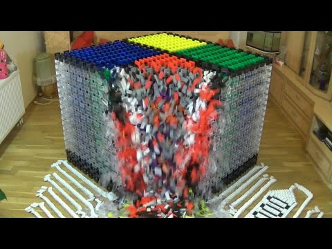 Thumbnail: World Record - Biggest Cube - 18,000 Dominoes