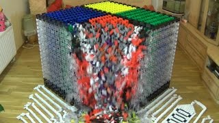 World Record - Biggest Cube - 18,000 Dominoes