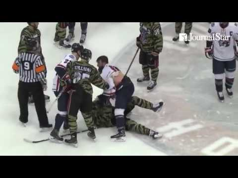 VIDEO: Postgame brawl in Macon at Huntsville SPHL game 3-25-17, both coaches suspended, player suspe