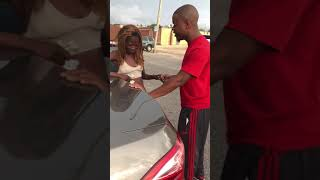 Man prays for distraught woman
