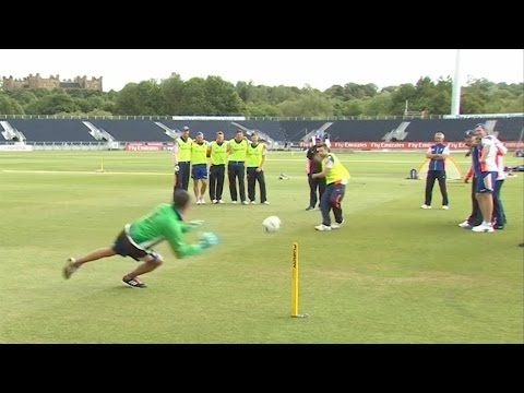 England cricket team - penalty shoot-out at Durham