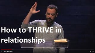 How to Thrive in Relationships | WORDS TO THE UNWISE   Part 7 | Talk by Jesse Campbell