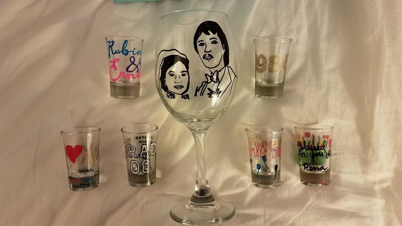 Diy Wine Glass Shot Glass Painting Paint Marker Review