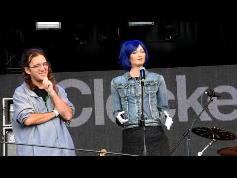 """Sophia the Hanson Robot singing """"All is Made of Love"""" at Clockenflap 2016"""