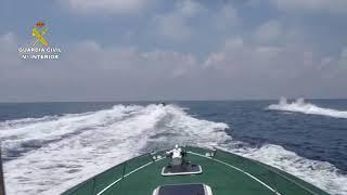 Intercepta una planeadora cargada de hachís tras horas de persecución por el Estrecho