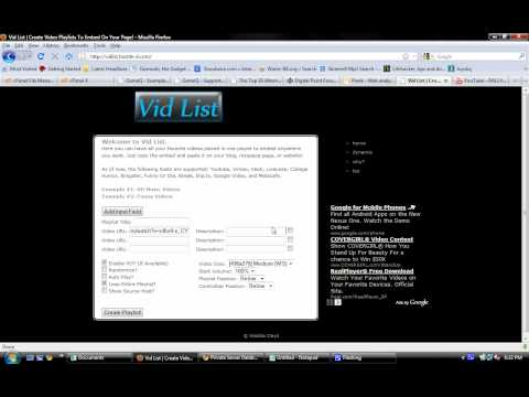 How to use VidList to Create and Embed Video Playlists.