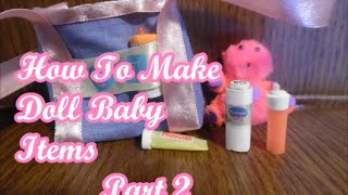How To Make A Doll Baby Bag 2