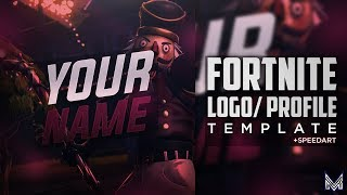 [FREE!!] Fortnite Logo/Profile Pic Template + Speedart | Photoshop
