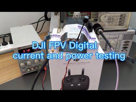 Фото DJI FPV digital system current power test