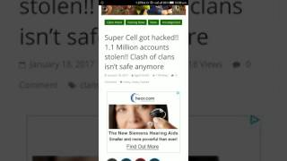 Super Cell got hacked!! 1.1 Million accounts stolen!! Clash of clans isn't safe anymore MUST WATCH
