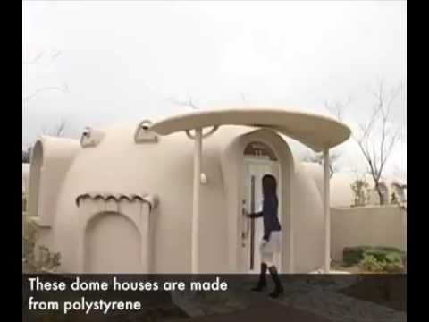 Styrofoam Dome japan dome house - youtube