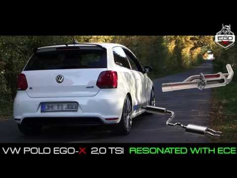 vw polo 6r 6c exhaust sound 2 75 70mm klappenauspuff. Black Bedroom Furniture Sets. Home Design Ideas