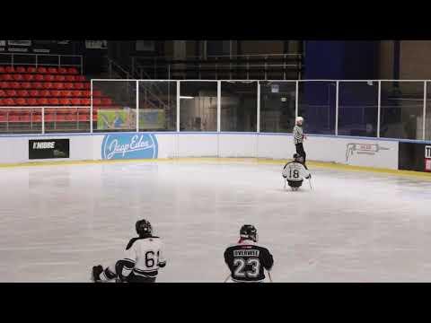 Sledge hockey in Jaap Eden 6 april 2019