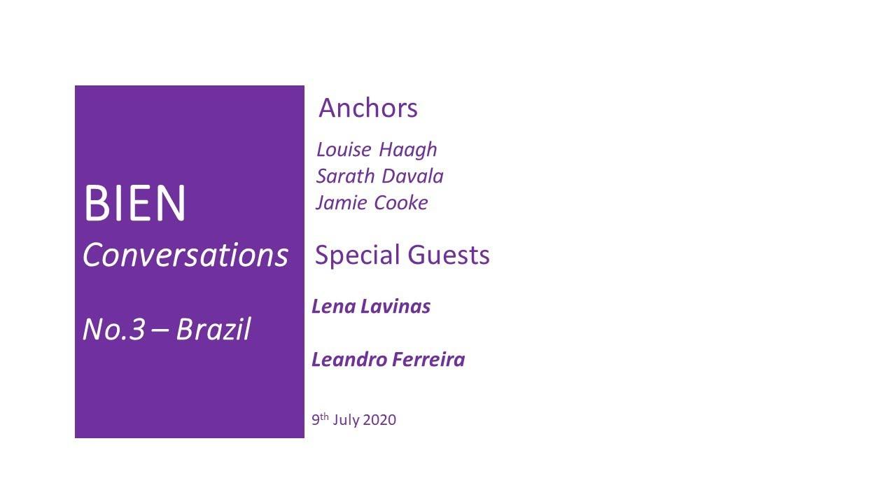 Brazil and Basic Income & Covid| BIEN Conversations | Lena Lavinas & Leandro Ferreira