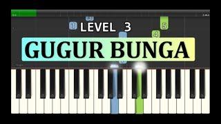 nada piano gugur bunga ciptaan ismail marzuki - lagu wajib nasional - tutorial level 3