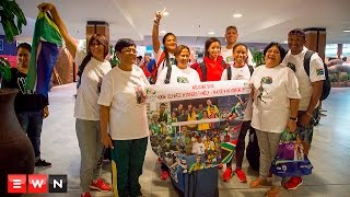 EWN caught up with the gold medallist's family when they landed at Cape Town International Airport on 18 August 2016.  The trip to Rio was the first time some of the athlete's relatives were overseas.  Click here to subscribe to Eyewitness News: http://bit.ly/EWNSubscribe  Like and follow us on: http://bit.ly/EWNFacebook AND https://twitter.com/ewnupdates  Keep up to date with all your local and international news: https://ewn.co.za  Produced by: Aletta Harrison