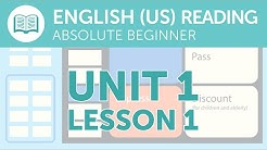 American English Reading for Absolute Beginners - Buying a Train Ticket
