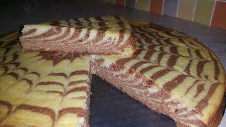 Творожный пирог ЗЕБРА