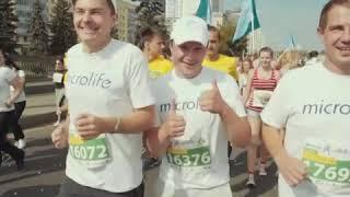 Промовидео компании Microlife о Минском полумарафоне