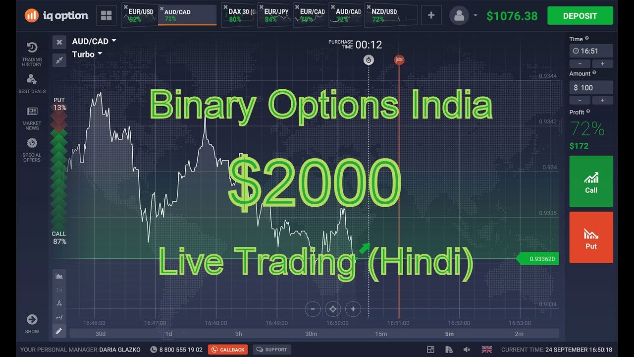 Living of binary options