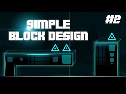 BLOCK DESIGN #2 (Simple) - Tutorial - Geometry Dash 2.115