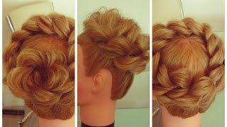 Три причёски из одной косы. Видео-урок.