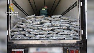 Guardia Civil intercepta cargamento con 70 kilos de cogollos de marihuana