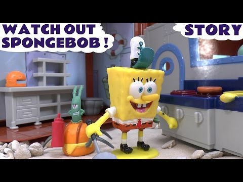 Play Doh Spongebob Squarepants Funny game Story Watch Out Episode Toy Unboxing
