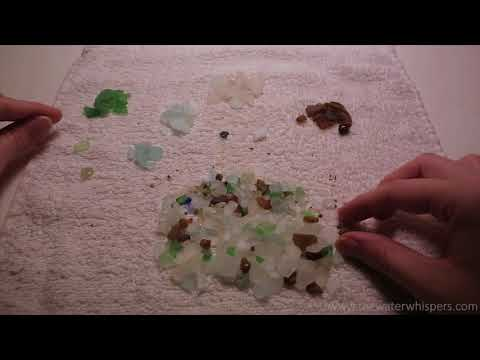 Sorting Pieces of Beach Glass by Color ~ ASMR Trigger [No Ta