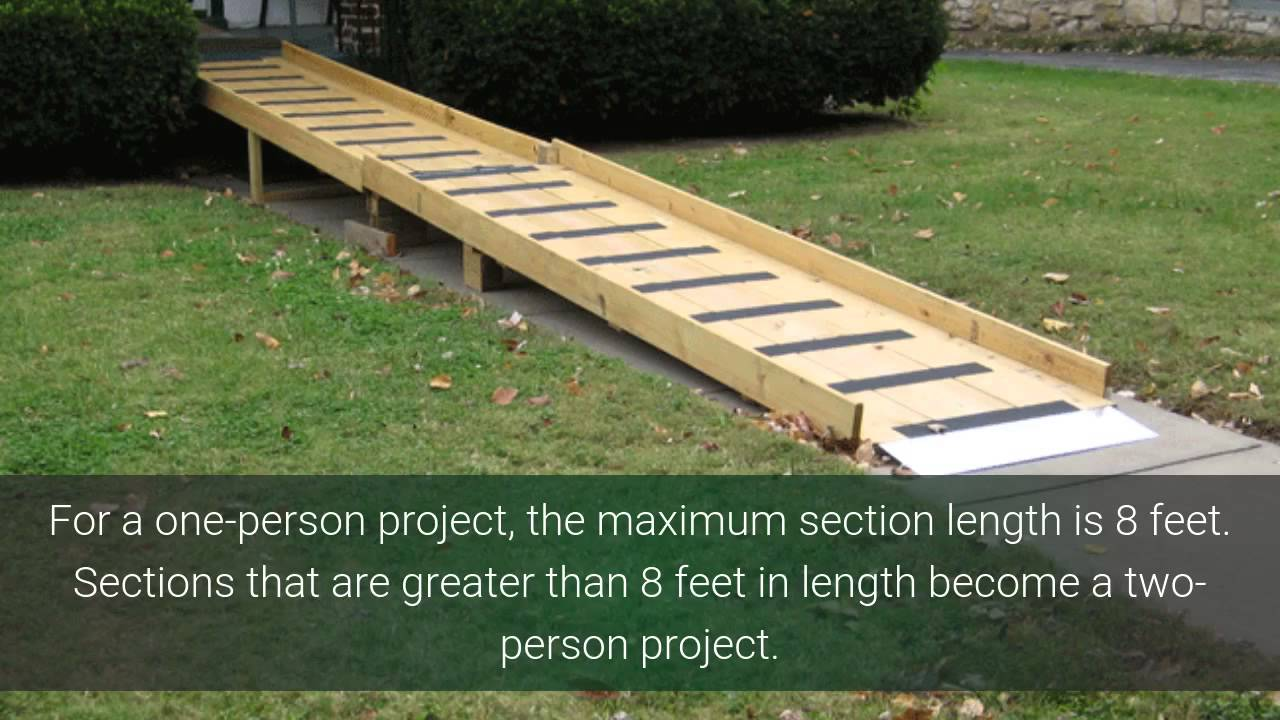Build a wheelchair ramp yourselfee design support youtube solutioingenieria Image collections