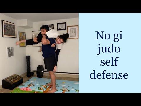 no gi t shirt judo self defense:  force clinch