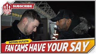 I'M GLAD I'M HALF BLIND! Southampton vs Manchester United 2-2 Fancam