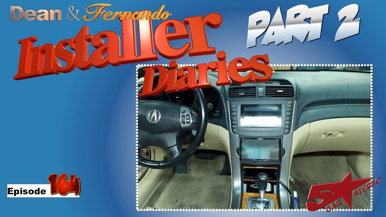 medium resolution of 05 acura tl in for a new radio amp and speakers installer diaries 164 part 2