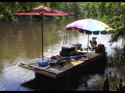My Cheap $200 Homemade Pontoon Boat Part 3