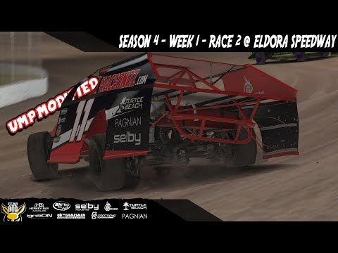 iRacing DIRTcar UMP Modifieds  Week 1 Race 2 @ Eldora Speedway
