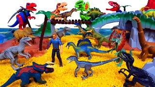 DIY Volcano Play Sets Jurassic World, Learn Dinosaur Names with Make a Lego Dinosuars Block Toy