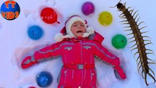 Замораживаем Шарики ОРБИЗ и НАСЕКОМЫХ в шариках с водой Видео для детей ORBEEZ for kids