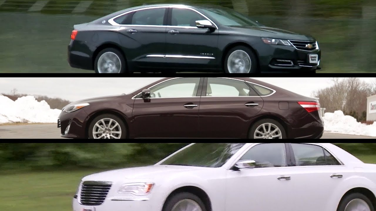 Large Sedans Top Choices Consumer Reports Youtube