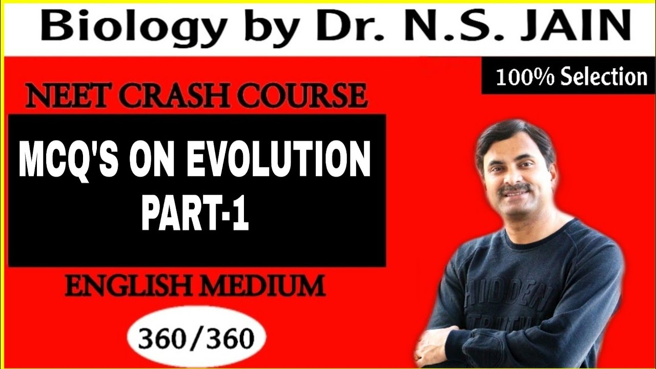 MCQ's on Evolution (Part-1) | English Medium
