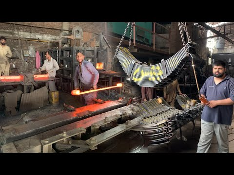 Manufacturing of Leaf Spring Complete Process in Factory | Production of Leaf Spring | Leaf Spring