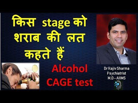 Alcohol Addiction CAGE test – Dr Rajiv Sharma Psychiatrist in Hindi