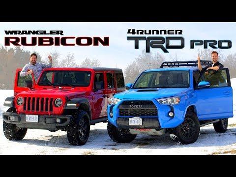 2019 Toyota 4Runner TRD Pro vs Jeep Wrangler Rubicon // Face-Off