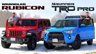 2019 Toyota 4Runner TRD Pro vs Jeep Wrangler Rubicon // Face-Off