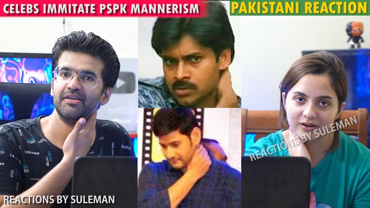 Pakistani Couple Reacts To Top Celebs Imitating Pawan Kalyan Mannerism