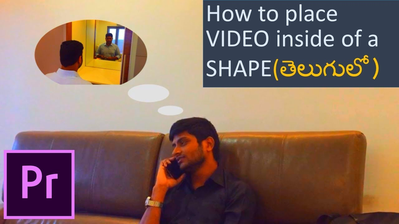 How to place VIDEO inside of a SHAPE object or text in Adobe Premiere Pro