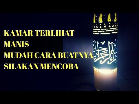 Tutorial lampu hias dari paralon 04( kaligrafi arab ).