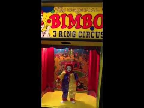 The original Bimbo three ring circus vintage arcade