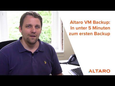 Altaro: In unter 5 Minuten zum ersten VM-Backup