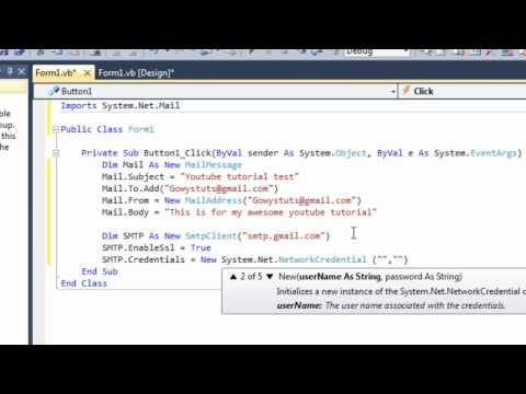 Visual Studio 2010 #7: Dim and Imports (Email Sender Part 1)